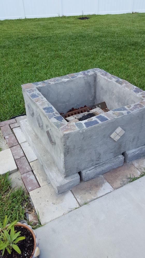 Concrete Block FirePit.