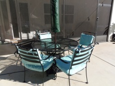 Patio chairs reupholstered